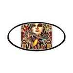 Mardi Gras Mask and Beautiful Woman Patch