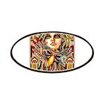 Mardi Gras Mask and Beautiful Woman Patch