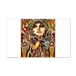 Mardi Gras Mask and Beautiful Woman Decal Wall Sti