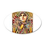 Mardi Gras Mask and Beautiful Woman Decal Wall Sti