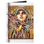Mardi Gras Mask and Beautiful Woman Journal