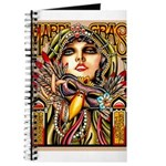 Mardi Gras Mask and Beautiful Woman Journal