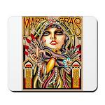 Mardi Gras Mask and Beautiful Woman Mousepad