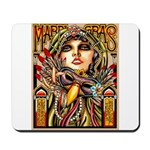 Mardi Gras Mask and Beautiful Woman Mousepad