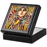 Mardi Gras Mask and Beautiful Woman Keepsake Box