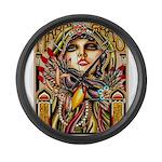 Mardi Gras Mask and Beautiful Woman Large Wall Clo