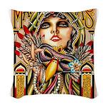 Mardi Gras Mask and Beautiful Woman Woven Throw Pi