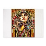 Mardi Gras Mask and Beautiful Woman 5'x7'Area Rug