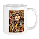 Mardi Gras Mask and Beautiful Woman Mugs