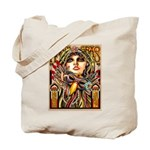 Mardi Gras Mask and Beautiful Woman Tote Bag