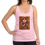Mardi Gras Mask and Beautiful Woman Racerback Tank