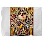 Mardi Gras Mask and Beautiful Woman Pillow Sham