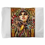 Mardi Gras Mask and Beautiful Woman Pillow Sham
