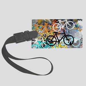 Bicycles Art Large Luggage Tag