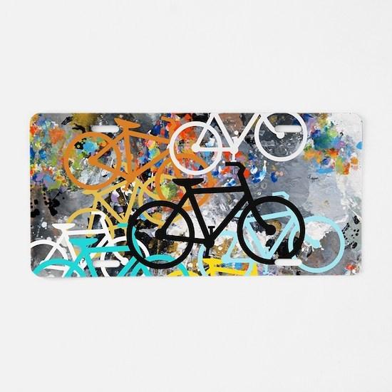 Bicycles Art Aluminum License Plate