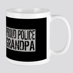 Police: Proud Grandpa (Black Flag, Blue Mug