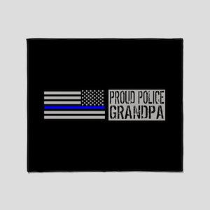 Police: Proud Grandpa (Black Flag, B Throw Blanket