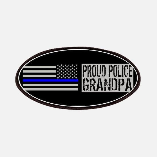 Police: Proud Grandpa (Black Flag, Blue Line Patch
