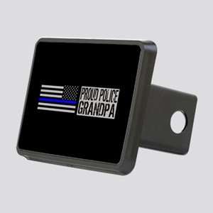 Police: Proud Grandpa (Bla Rectangular Hitch Cover