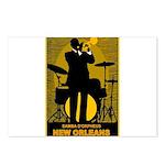 Samba D'Orpheus New Orleans Trumpet Player Postcar