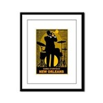 Samba D'Orpheus New Orleans Trumpet Player Framed