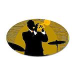 Samba D'Orpheus New Orleans Trumpet Player Decal W