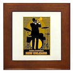 Samba D'Orpheus New Orleans Trumpet Player Framed