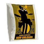 Samba D'Orpheus New Orleans Trumpet Player Burlap