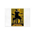 Samba D'Orpheus New Orleans Trumpet Player 5'x7'Ar