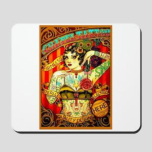 Chapel Tattooed Beautiful Lady Mousepad