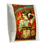 Chapel Tattooed Beautiful Lady Burlap Throw Pillow