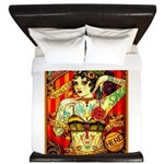 Chapel Tattooed Beautiful Lady King Duvet
