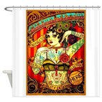 Chapel Tattooed Beautiful Lady Shower Curtain