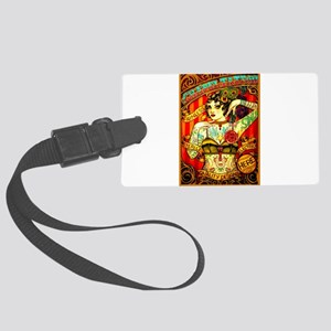 Chapel Tattooed Beautiful Lady Large Luggage Tag