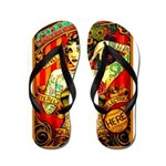 Chapel Tattooed Beautiful Lady Flip Flops
