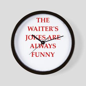 waiter Wall Clock