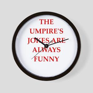 umpire Wall Clock