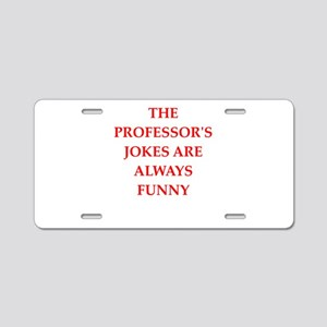professor Aluminum License Plate
