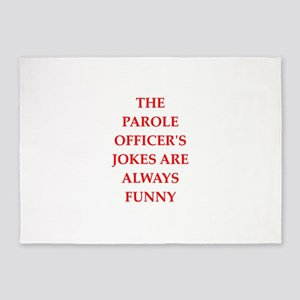 parole officer 5'x7'Area Rug