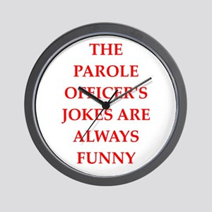 parole officer Wall Clock