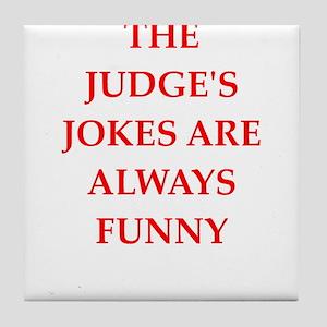 judge Tile Coaster