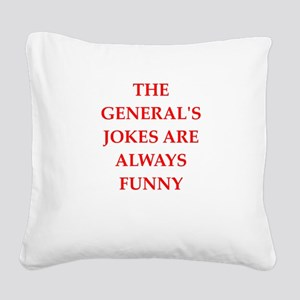 general Square Canvas Pillow