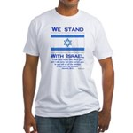 We Stand With Israel Fitted T-Shirt