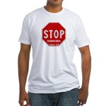 Stop Sinning Fitted T-Shirt