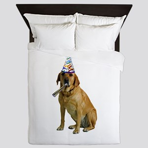 Yellow Lab Party Queen Duvet