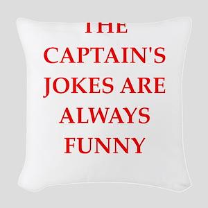captain Woven Throw Pillow