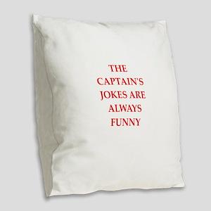 captain Burlap Throw Pillow