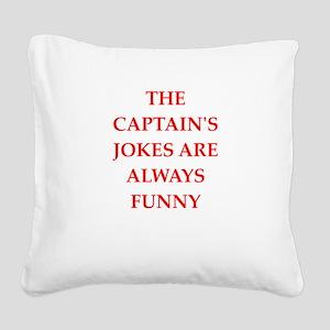 captain Square Canvas Pillow