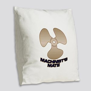 Machinist's Mate Burlap Throw Pillow
