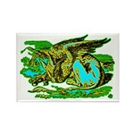 Gryphon Rectangle Magnet (100 pack)